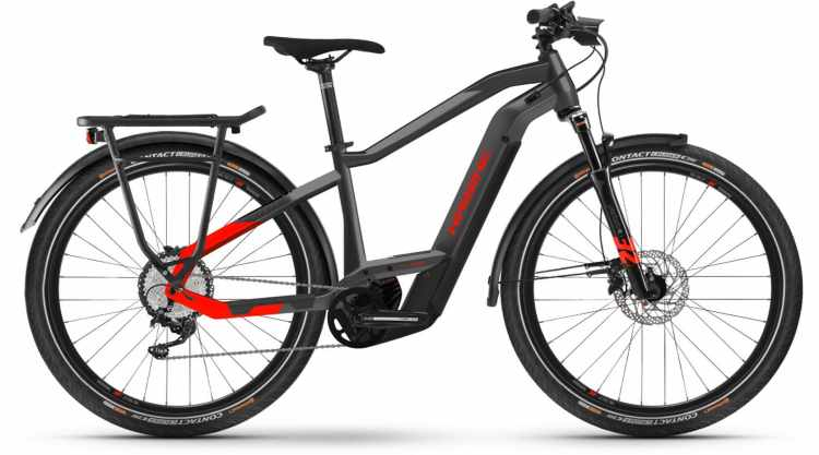 Haibike Trekking 9 i625Wh anthracite/red 2021 - E-Bike Trekkingrad Herren