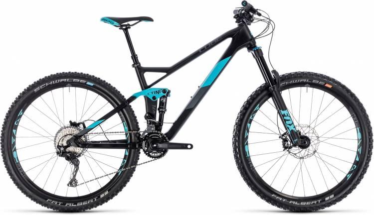 Cube Sting WS 140 HPC Race 27.5 carbon n aqua 2018 - Damen Fully Mountainbike