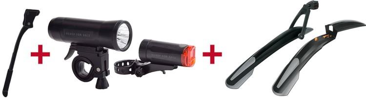 Ghost Fahrradständer + RFR Beleuchtungsset + SKS Steckschutzblechset