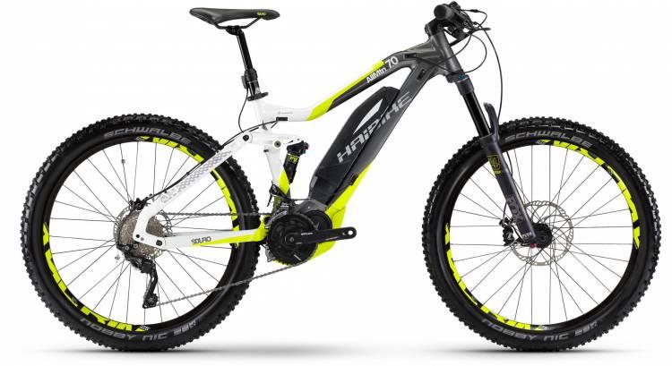 Haibike SDURO AllMtn 7.0 500Wh titan/weiß/lime 2017 - E-Bike Fully Mountainbike