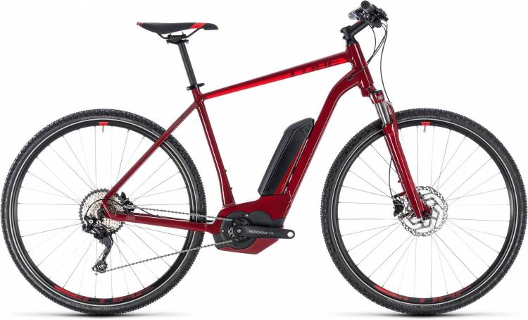 Cube Cross Hybrid Pro 400 darkred n red 2018 - Herren E-Bike Crossrad