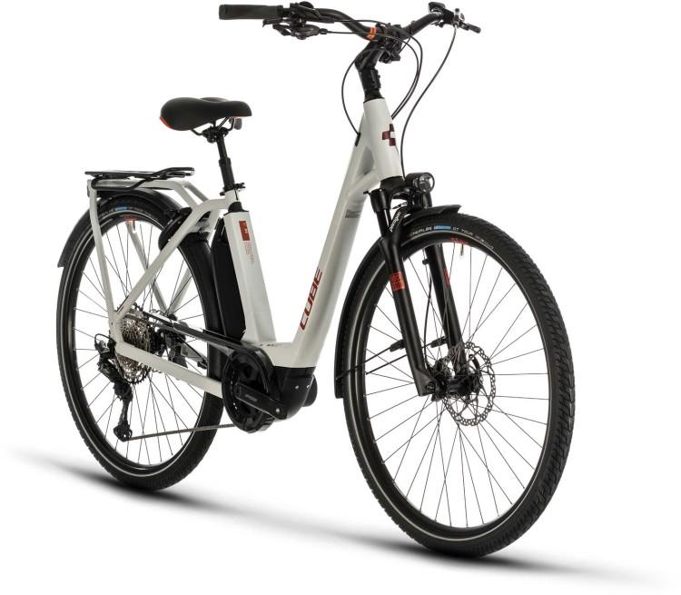 Cube Town Sport Hybrid EXC 500 grey n red 2020 - E-Bike Trekkingrad Tiefeinsteiger