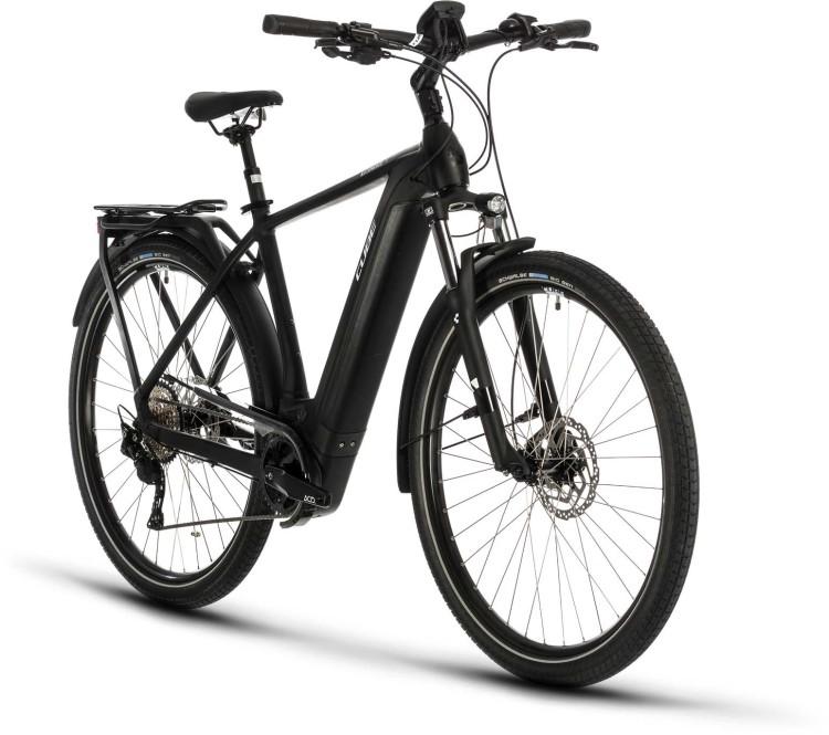 Cube Kathmandu Hybrid Pro 625 black n white 2020 - E-Bike Trekkingrad Herren