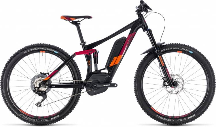 Cube Sting Hybrid 140 Race 500 27.5 black n berry 2018 - Damen E-Bike Fully Mountainbike