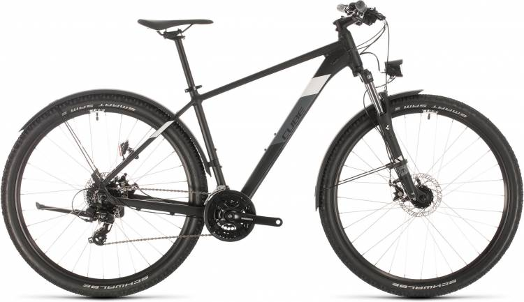 Cube Aim Allroad black n white 2020 - Hardtail Mountainbike