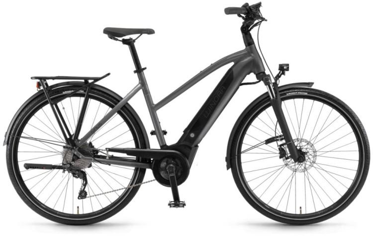 """Winora Sinus i9 500Wh 28"""" titan 2020 - Damen Trapez E-Bike Trekkingrad"""