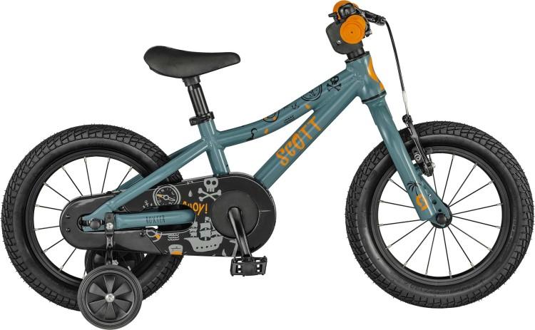 Scott Roxter 14 grey blue / orange / black 2021 - Kinderrad 16 Zoll