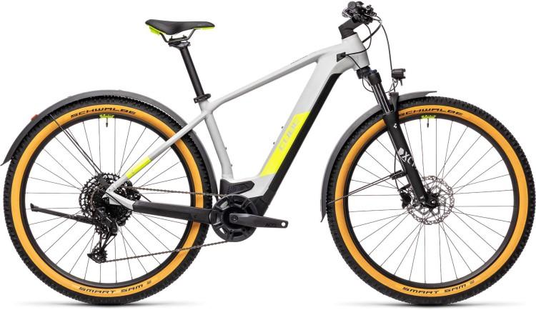 Cube Reaction Hybrid Pro 625 29 Allroad grey n yellow 2021 - E-Bike Hardtail Mountainbike