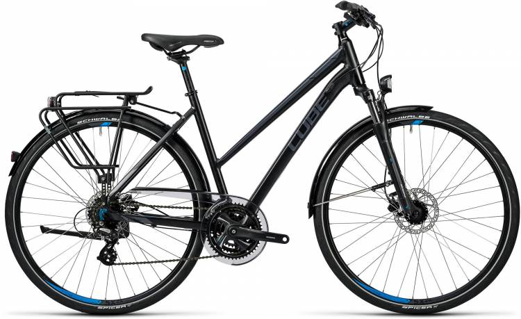 Cube Touring Pro black grey blue Damen - Trapez 2016