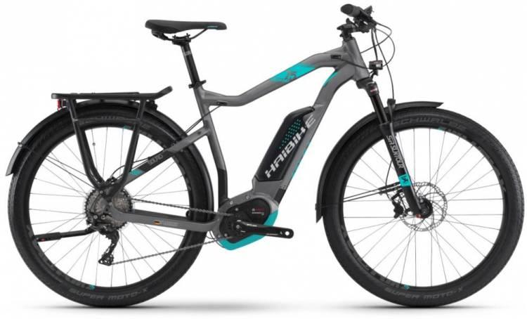 Haibike SDURO Trekking 7.5 500Wh titan/cyan/schwarz 2018 - Herren E-Bike Trekkingrad