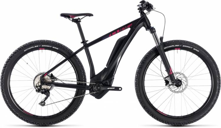 Cube Access Hybrid Pro 400 black n berry 2018 - Damen E-Bike Hardtail Mountainbike