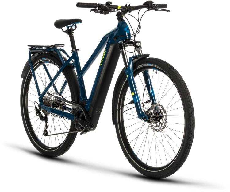 Cube Kathmandu Hybrid ONE 625 blue n yellow 2020 - E-Bike Trekkingrad Damen