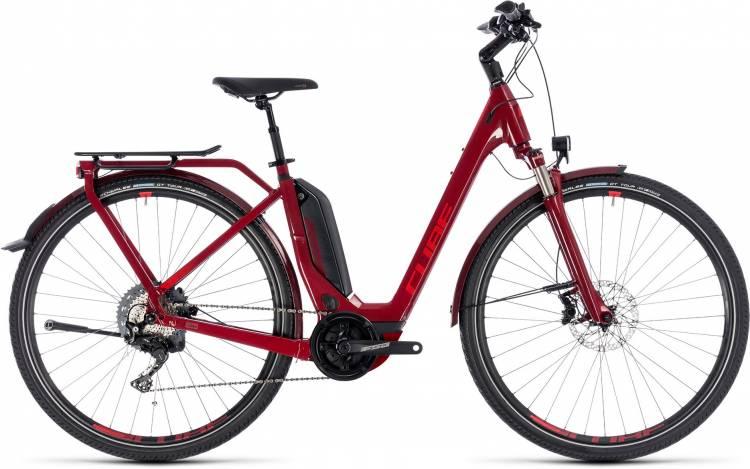 Cube Touring Hybrid EXC 500 darkred n red 2018 - Tiefeinsteiger E-Bike Trekkingrad