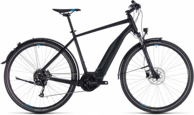Cube Cross Hybrid ONE Allroad 500 black n blue 2018 - Herren E-Bike Crossrad