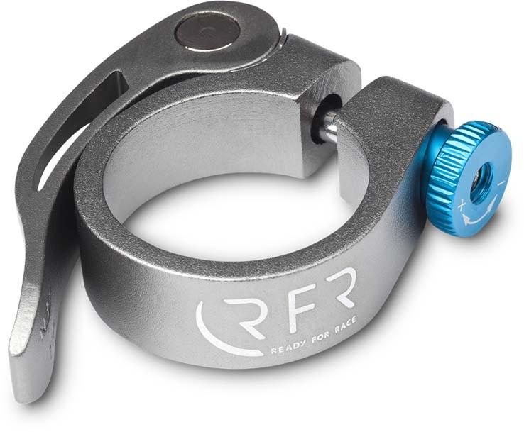 RFR Sattelklemme mit Schnellspanner 31,8 mm grey n blue