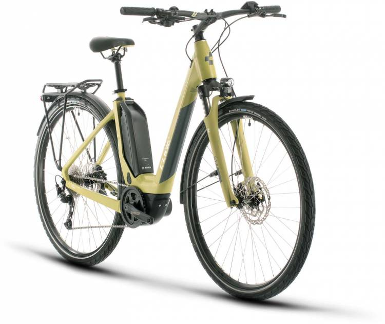 Cube Touring Hybrid ONE 500 green n white 2020 - E-Bike Trekkingrad Tiefeinsteiger
