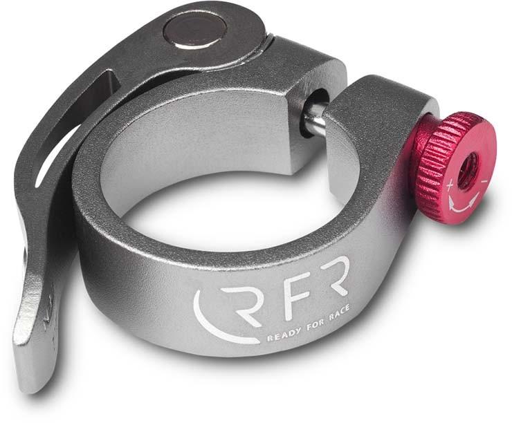 RFR Sattelklemme mit Schnellspanner 31,8 mm grey n red