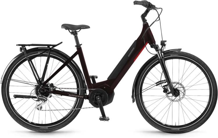 Winora Yucatan 9 i500Wh black coffee 2021 - E-Bike Trekkingrad Tiefeinsteiger