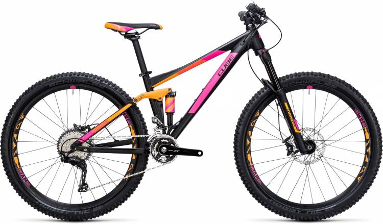 Cube Sting WLS 120 Pro 2x black n orange 2017 - Damen Fully Mountainbike