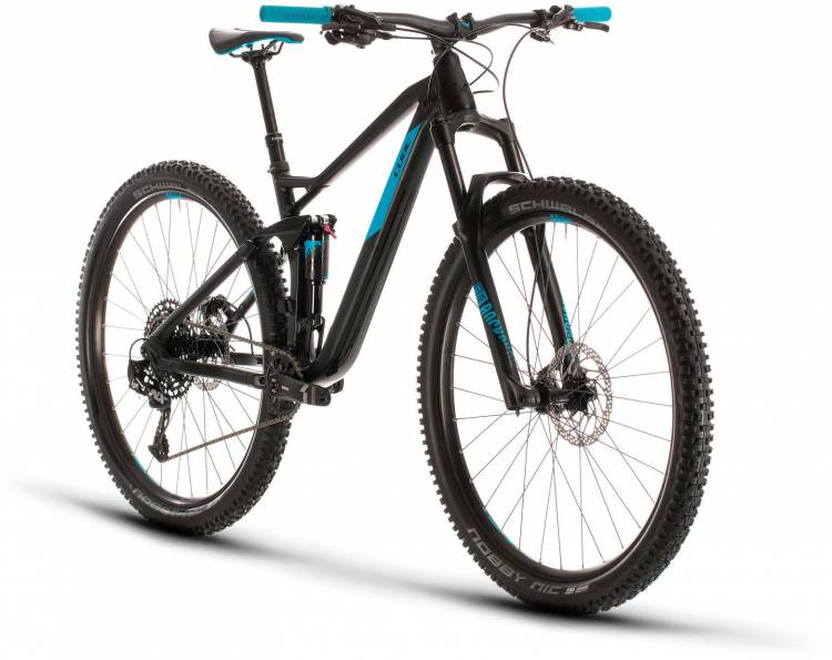 Cube Stereo 120 Pro 29 black n blue 2020 - Fully Mountainbike