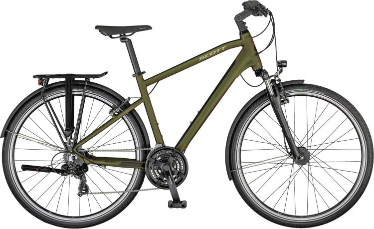 Scott Sub Sport 40 Men beetle green / polished silver 2021 - Trekkingrad Herren