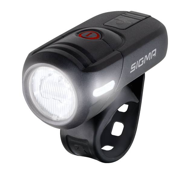 SIGMA LED Akkufrontleuchte Aura 45 USB inkl. Halterung, schwarz