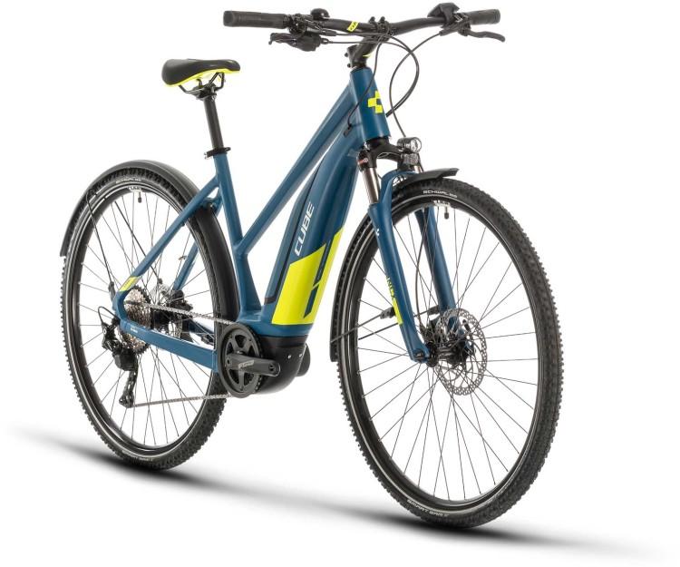 Cube Nature Hybrid EXC 500 Allroad blue n lime 2020 - E-Bike Crossrad Damen