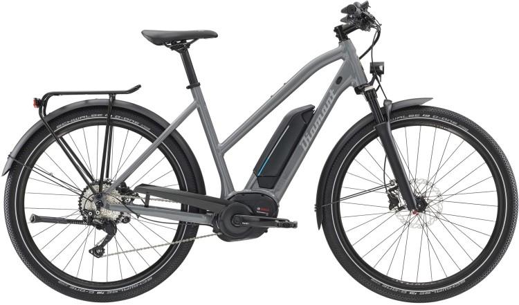 Diamant Elan Legere+ GOR Graphitgrau 2020 - E-Bike Trekkingrad Damen