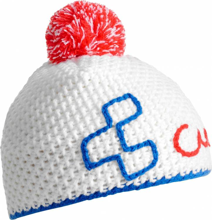 Cube Häkelbeanie blue´n´red´n´white