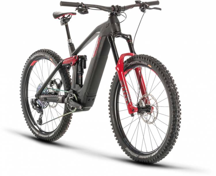 Cube Stereo Hybrid 160 HPC SLT 27.5 625 carbon n red 2020 - E-Bike Fully Mountainbike