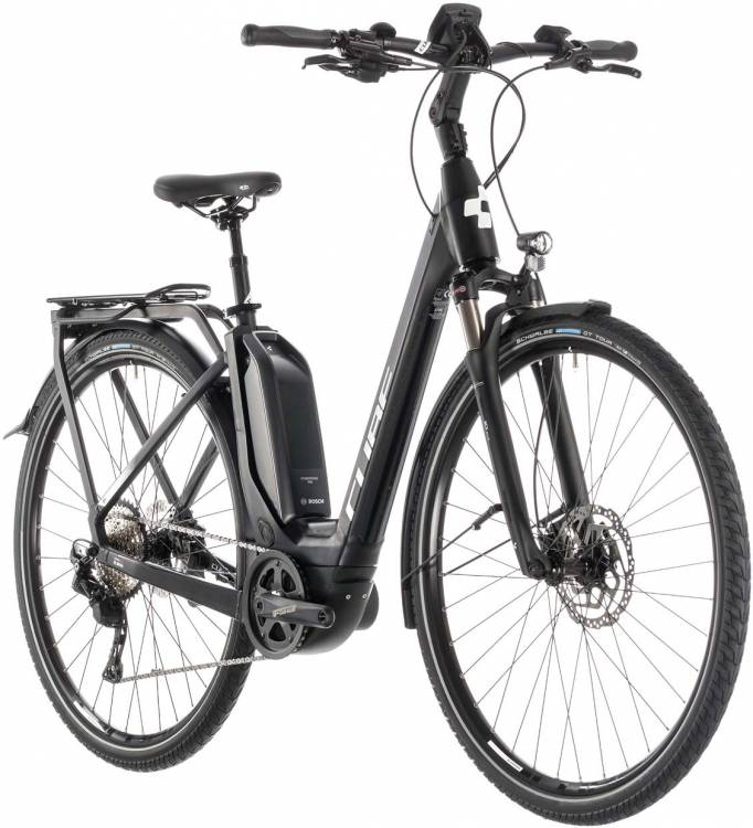 Cube Touring Hybrid Pro 500 black n white - Easy Entry 2019 - Lackschaden