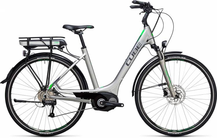 Cube Touring Hybrid ONE 500 silver n flashgreen Easy Entry 2017
