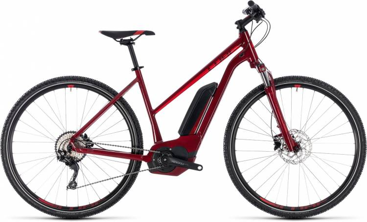 Cube Cross Hybrid Pro 400 darkred n red 2018 - Damen Trapez E-Bike Crossrad