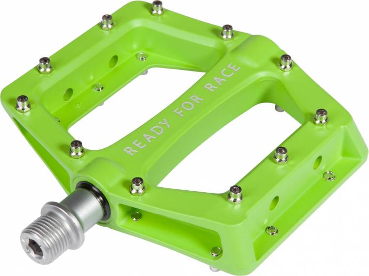 Cube RFR Pedale Flat RACE grün