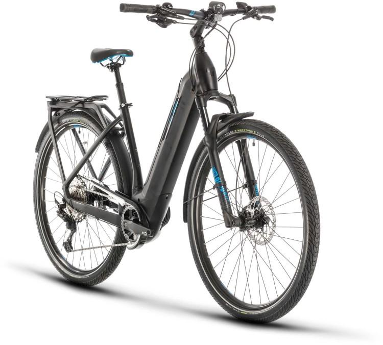 Cube Kathmandu Hybrid SL 625 black n blue 2020 - E-Bike Trekkingrad Tiefeinsteiger