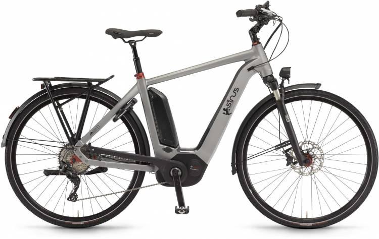 """Sinus Ena11 500Wh 28"""" darksilver matt 2017 - Herren E-Bike Trekkingrad"""