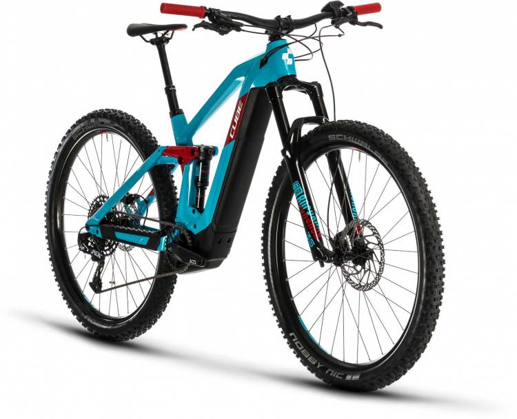Cube Stereo Hybrid 140 HPC Race 500 29 petrol n red 2020 - E-Bike Fully Mountainbike