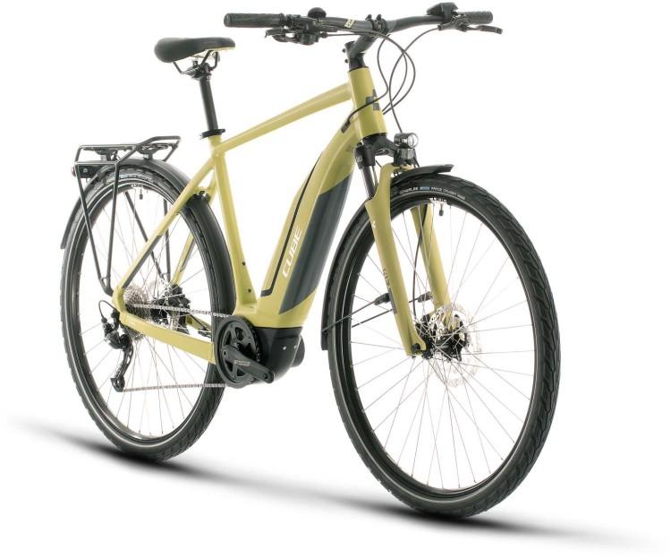 Cube Touring Hybrid ONE 400 green n white 2020 - E-Bike Trekkingrad Herren