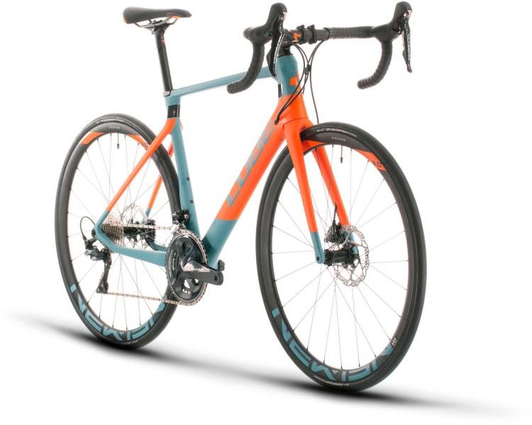 Cube Agree C:62 Race bluegrey n orange 2020 - Carbon Rennrad Herren