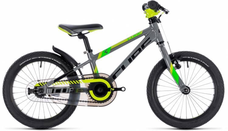 Cube Kid 160 grey n green n kiwi 2018 - Kinderrad 16 Zoll