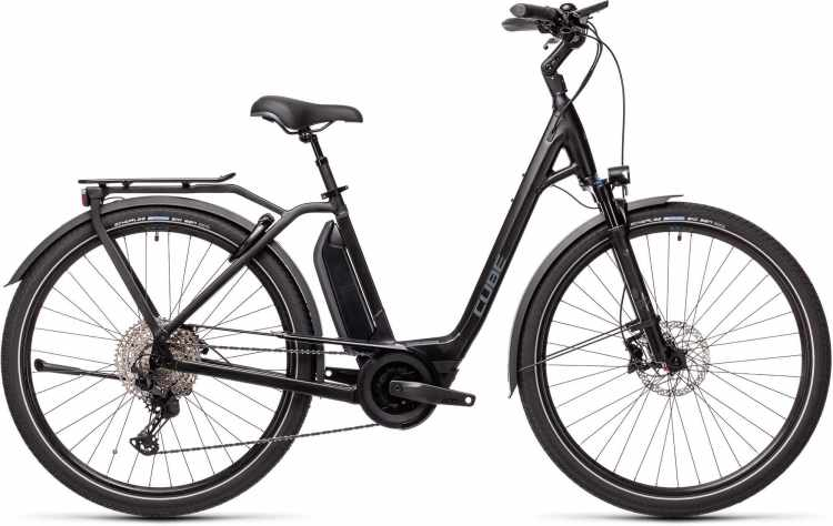 Cube Town Sport Hybrid EXC 500 black n grey 2021 - E-Bike Trekkingrad Tiefeinsteiger