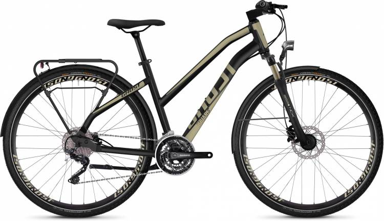 Ghost Square Trekking 6.8 AL W jet black / ext gold 2020 - Trekkingrad Damen