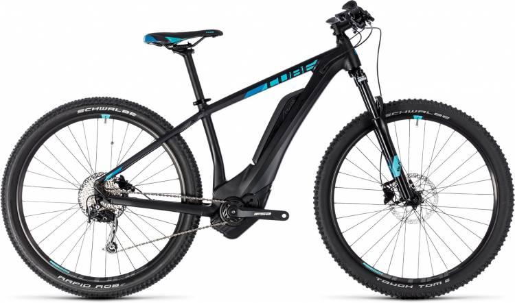 Cube Access Hybrid ONE 400 black n aqua 2018 - Damen E-Bike Hardtail Mountainbike