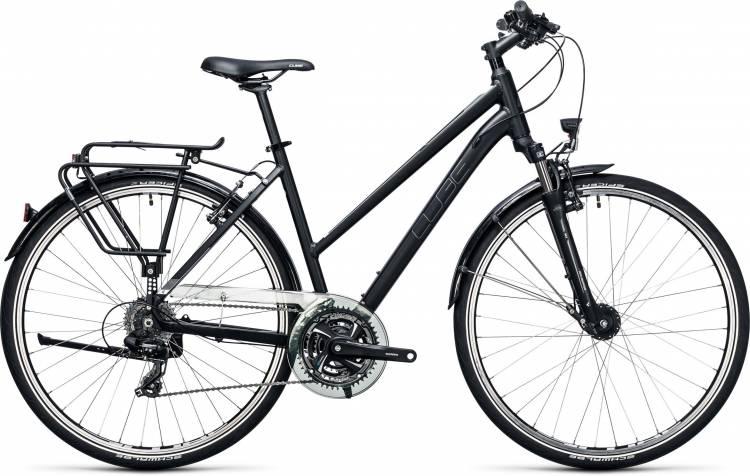 Cube Touring black n white 2017 - Damen Trapez Trekkingrad
