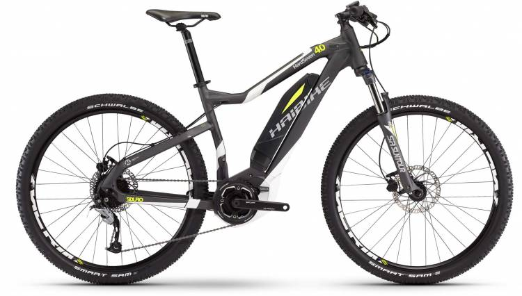 Haibike SDURO HardSeven 4.0 400Wh anthr/weiß/neon gelb matt 2017 - E-Bike Hardtail Mountainbike