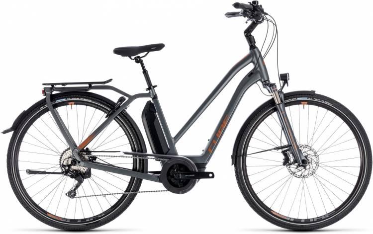 Cube Town Hybrid Sport Pro 400 grey n copper 2018 - Damen Trapez E-Bike Trekkingrad