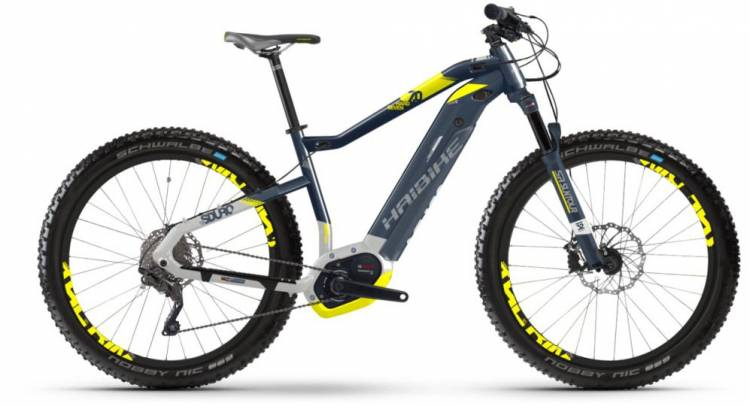 Haibike SDURO HardSeven 7.0 500Wh blau/citron/silber m. 2018 - E-Bike Hardtail Mountainbike