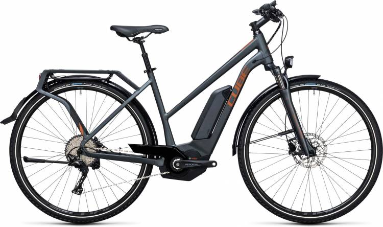 Cube Touring Hybrid EXC 400 grey n copper Damen Trapez 2017
