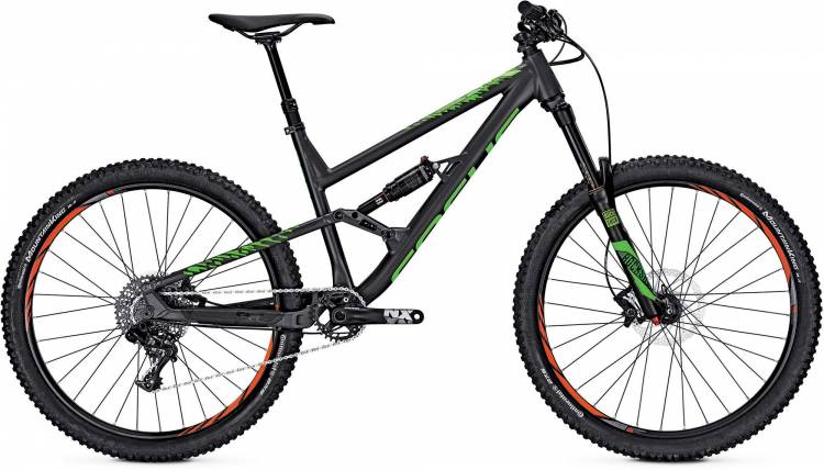 Focus Sam Pro 27 nimbus grey/matt/green 2017 - Fully Mountainbike
