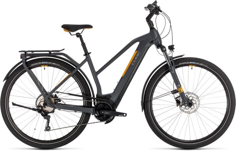 Cube Kathmandu Hybrid Pro 500 grey n orange 2020 - E-Bike Trekkingrad Damen